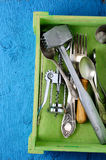 Kitchen food equipment background Stock Photos