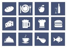Kitchen and food icons Stock Image