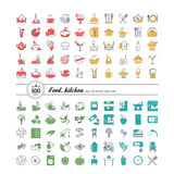 Kitchen. Food. Set of abstract pictures. A vector Stock Image