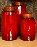 Kitchen Food Storage Canisters Stock Photography
