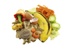 Kitchen food waste royalty free stock photos