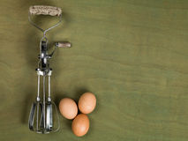 Kitchen Food Whisk or Egg Beater Stock Photography