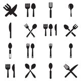 Kitchen fork and spoon icon vectors royalty free illustration