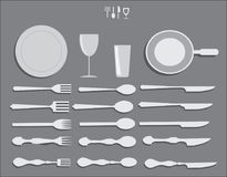 Kitchen Forks Spoons and Utensils Vector Pack royalty free stock photo