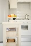 Kitchen with fruits Royalty Free Stock Images