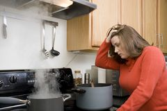 Kitchen frustrations Royalty Free Stock Photography