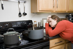 Kitchen Frustrations Stock Images