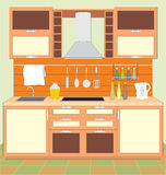 Kitchen furniture. Royalty Free Stock Photography