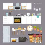 Kitchen Furniture Flat Stock Photos
