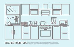 Kitchen Furniture Illustration Stock Photography