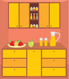 Kitchen furniture. Interior Stock Photo