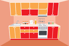 Kitchen furniture. Interior. Stock Image