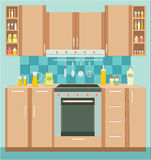 Kitchen furniture. Interior. Royalty Free Stock Photography