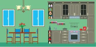 Kitchen furniture. Interior Stock Image