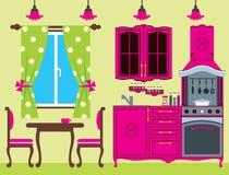 Kitchen furniture. Interior. Stock Images