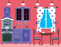 Kitchen furniture. Interior Royalty Free Stock Images