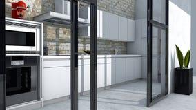 Kitchen furniture, interior design, kitchen furniture. Furniture and appliances for the kitchen Royalty Free Stock Photography