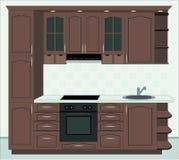 Kitchen furniture. Interior of kitchen Stock Photography