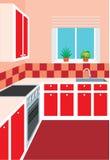 Kitchen furniture. Interior of kitchen Stock Photos