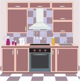 Kitchen furniture. Interiors. Stock Photos