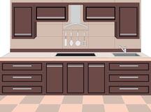 Kitchen furniture. Interiors. Stock Photos