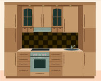 Kitchen furniture. Interiors Royalty Free Stock Photos