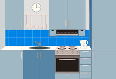 Kitchen furniture. Interiors. Stock Images