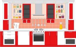 Kitchen furniture. Interiors.  Royalty Free Stock Photo