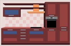 Kitchen furniture. Interiors.  Stock Images