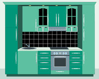 Kitchen furniture. Interiors. Stock Photo
