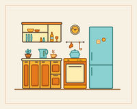 Kitchen with furniture Stock Photography