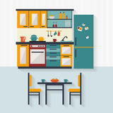 Kitchen with furniture Royalty Free Stock Photos
