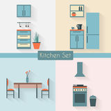 Kitchen with furniture Royalty Free Stock Image