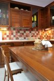 Kitchen furniture from mahogany Stock Photo