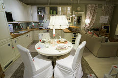 Kitchen in the furniture store  Royalty Free Stock Images
