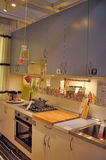 Kitchen in furniture store Ikea Stock Image
