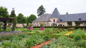 Kitchen garden of chateau Cheverny Royalty Free Stock Photography