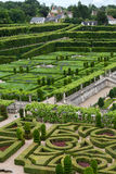 Kitchen garden in  Chateau de Villandry. Stock Image