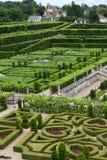 Kitchen garden in  Chateau de Villandry. Stock Image