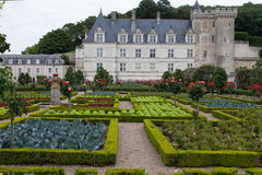 Kitchen garden in  Chateau de Villandry Royalty Free Stock Photography