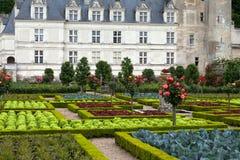 Kitchen garden in  Chateau de Villandry Stock Photos