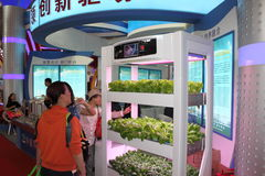 Kitchen garden in the International high-tech expo Royalty Free Stock Images