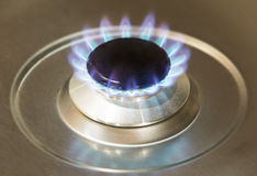 Kitchen gas burner Stock Images