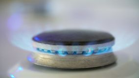 Kitchen Gas Burner. On and off stock footage