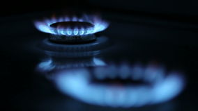 Kitchen Gas Burner stock video