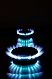 Kitchen gas flames Stock Image