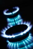 Kitchen gas flames Royalty Free Stock Photography