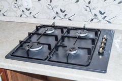 Kitchen gas stove Stock Photo