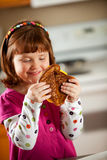 Kitchen Girl: Ready to Eat Grilled Cheese Royalty Free Stock Image