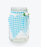 Kitchen glass jar with decorative handmade heart Stock Image